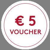 Ontvang € 5 korting op uw eerste aankoop